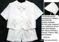 boys bridal satin 5 pce set for sale $75 0427820744