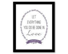 Let Everything You Do Be Done In Love, Corinthians 16:14, Bible Verse, Christian Art, Inspirational Quote, Christian Gift, INSTANT DOWNLOAD
