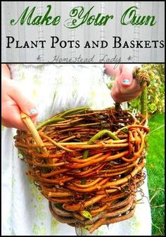 Make Your Own Plant Baskets and 9 other fun gardening projects for kids!