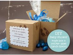 10 DIY Baby Shower Favors! Love this idea . Could b cute to add to table decorations and guest could take them home. Or make a few to send home as game winning prizes