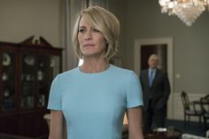 """Robin Wright dans le rôle de Claire Underwood dans """"House of Cards"""" Frank Underwood, Claire Underwood Style, Clare Underwood, Kevin Spacey, Gary Oldman, Jessica Chastain, Robin Wright Haircut, House Of Cards Season 5, Madame"""