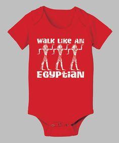 Look at this #zulilyfind! KidTeeZ Red 'Walk Like an Egyptian' Bodysuit - Infant by KidTeeZ #zulilyfinds