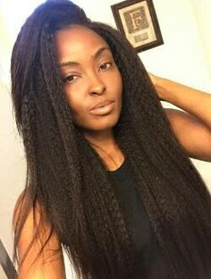 Straight Crochet Braids on Pinterest Crochet Braids, Kanekalon Hair ...