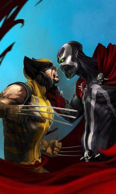 wolverine vs spawn by soft-h.deviantart.com I'm puttin my money on Wolverine! ....just sayin