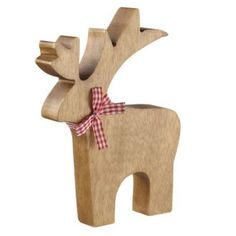 Tu Large Wooden Christmas Reindeer - Christmas decorative accessories - Decorative accessories - New in - Home & garden - Sainsbury's