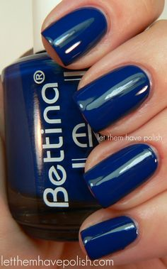 Indigo Blue. On toes though! I only like sheer neutrals on finger nails.