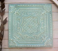 Pressed Tin. Antique architectural salvage.  by DriveInService, $59.00