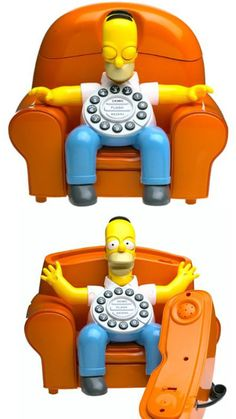 """The Homer Simpson Animated Talking Telephone ($42.79) alerts you to incoming phone calls like only Homer can! The phone dispenses Classic Homer wisdom such as """"Don't touch it, it might be work!"""" and """"I'm leaving the clowning business to the clowns in the clowning business!"""". ☎"""