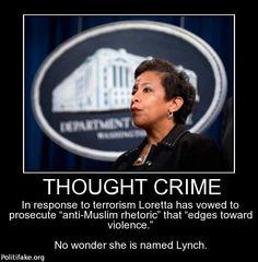 "Loretta Lynch vows to prosecute ""anti-muslim rhetoric"" |DEFEAT OBAMA TOONS"