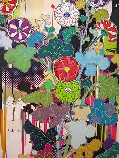 """Takashi Murakami """"Takashi Murakami Paints Self-Portraits"""" by BFLV on Flickr"""