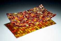Long Fall Harvest Platter by Robert Wiener: Art Glass Platter available at www.artfulhome.com