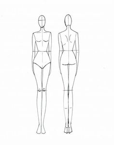 Clothing Design Templates Fashion Sketch Templates