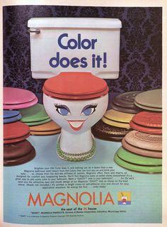 Magnolia seat lids 1972 #toilet