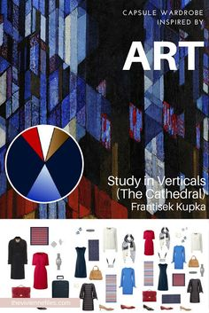 Study in Verticals (The Cathedral) by Frantisek Kupka - Start with Art for a Tote Bag Business Travel Capsule