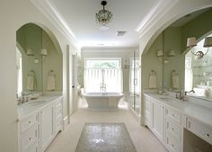 Bathroom Flooring - Marble Counters, but a light stone on the floor.
