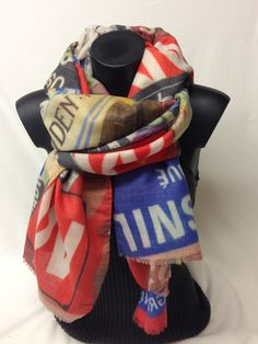 Sciarpa in lana vergine ed alpaca stampata. New wool and alpaca printed scarf. www.millenium-srl.it