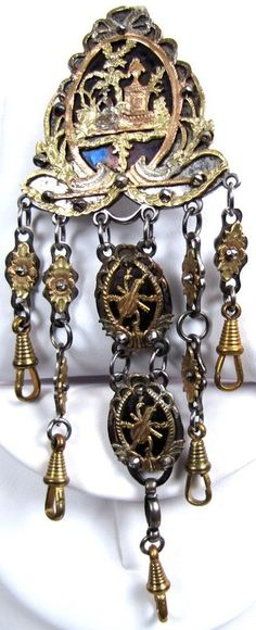Fantastic Georgian Gold, Silver and Steel Equipage (Chatelaine)