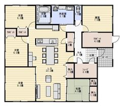ideas apartment house plans ideas for 2019 Apartment Plants, Apartment Interior, Apartment Design, Dream House Plans, House Floor Plans, Living Room New York, Craftsman Floor Plans, College Apartments, Small Studio