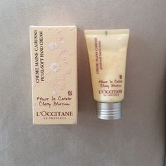 Brand New L'Occitane Hand Cream Packaging safety seal still attached. Never used. Soft hand cream in cherry blossom. L'Occitane Makeup
