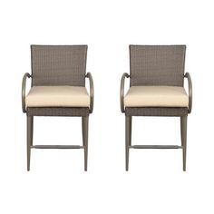 Hampton Bay Posada Patio Balcony Height Dining Chair With Cushion Insert Slipcovers Sold Separately