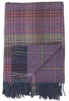 Heather Scottish Heritage Reversible Lambswool Throw
