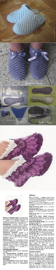 Spanking for grandma. Diy Crochet Slippers, Crochet Boot Cuffs, Crochet Slipper Pattern, Crochet Sandals, Crochet Boots, Crochet Bear, Crochet Poncho, Love Crochet, Beautiful Crochet
