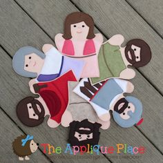 Set of 6 Bible Character Puppets - Easter Story - Hand and Finger Puppets In The Hoop Machine Embroidery Applique Designs on Etsy, $18.00