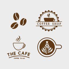 coffee logo Set of coffee elements and coffee accessories vector Free Vector Logo Café, Badge Logo, Web Design, Logo Design, Logo Generator, Cafeteria Menu, Cafe Logos, Café Vintage, Coffee Shop Logo