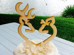 Buck and Doe wedding cake topper-hunting cake topper- the hunt is over couples cake topper-