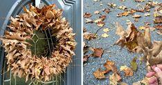 Kreatívny DIY nápad a návod krok za krokom na ten najjednoduchší jesenný veniec z lístia, ktorý máte hotový ani nie za 10 minút. Jesenná dekorácia na dvere