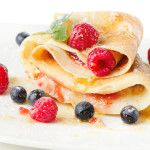 Crepes with Berries and Mint | Living Lean With Erin