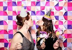 Lovely birthday party set-up for this fun #photobooth complete with a colorful backdrop.#rentmyphotobooth Photo via #EdytaSyszlo #100LayerCake