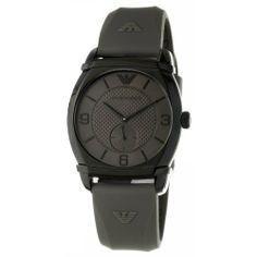 Emporio Armani Men's AR0341 Classic Grey Dial Watch Emporio Armani. $135.00. •Quartz movement•Stainless steel case•Grey dial•Grey rubber strap•Water-resistant to 50 M (165 feet)