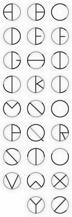Fonts alphabet letters