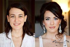 wedding makeup, wedding hair, before and after makeup, Mac cosmetics