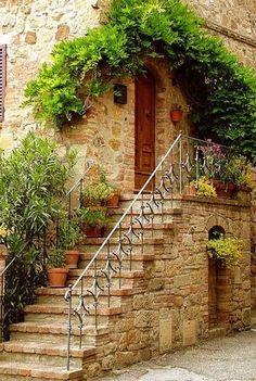 tassels: Doorway in Tuscany, Italy