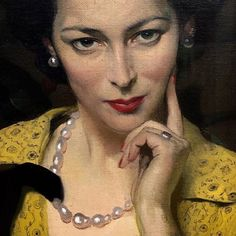 Pauline in the Yellow Dress, oil on canvas, – Sir Herbert James Gunn (British, – figurative artist beautiful female seated woman face portrait painting. Charlotte Brontë, Lovely Eyes, Beautiful, James Gunn, The Royal Collection, Glasgow School Of Art, Art Society, Portraits, National Portrait Gallery