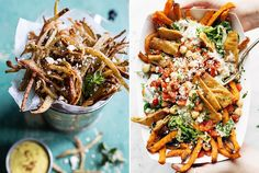Greek Feta Fries With Roasted Garlic Saffron Aioli 12 Outrageously Delicious Homemade Fries You Need To Eat ASAP Buzzfeed Tasty, Buzzfeed Food, Buzzfeed Recipes, Vegetarian Recipes, Cooking Recipes, Healthy Recipes, Homemade Fries, Veggie Dishes, Side Dishes