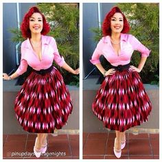 The insanely adorable @pinupdaysvintagenights wearing head to toe Pinup Couture and making our Red Harlequin print look absolutely fabulous! Shop her entire look now at www.pinupgirlclothing.com in sizes XS - 4X. http://instagram.com/p/q1xn0miomK/
