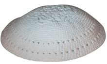 White Crochet Kippah KNT-WTX324