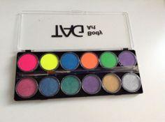 Аквагрим TAG набор 12 цветов неон+перламутр (12*10 гр)