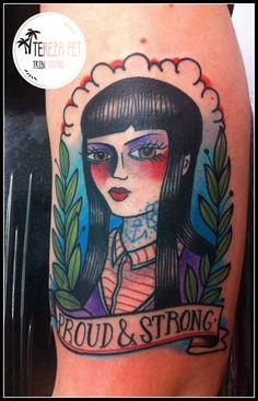 skinhead girl/tattoo