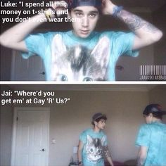 Haha I love it when they bicker at each other! Jai and Luke Brooks #TwinTalkTime ♥♡