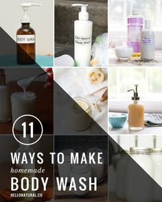 11 Ways to Make Homemade Body Wash | Hello Glow