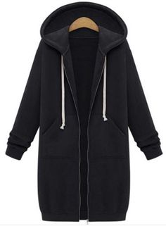The coat is featuring hooded, round neck, long sleeve, solid color and casual. The coat is casual and comfortable. It's suitable for working, shopping, party and many occasions.