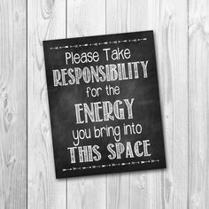 Chalkboard sign Please take responsibility by willowbeeexpressions, $5.00