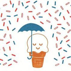 raining sprinkles