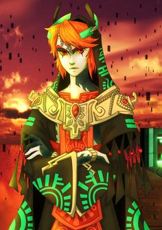 Twilight king Link, by spock sickle.... So, my immediate thought was he went with Midna, married her and became king. YEP! In love with it.