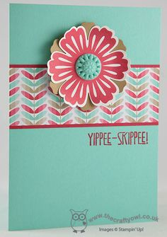 Fresh Prints Mixed Bunch Card Fresh Prints DSP, Mixed Bunch, Blossom Punch, Yippee Skippee, Joanne James Stampin' Up! UK Independent Demonstrator, blog.thecraftyowl.co.uk