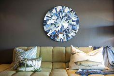 Michele Throssell Interiors > TV lounge > Kurt Pio artwork > moody